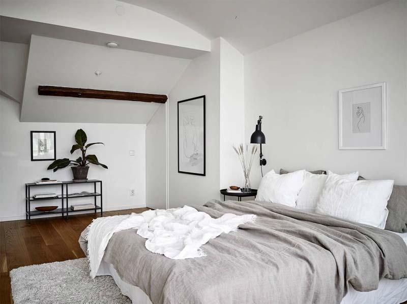 deken over bed wit