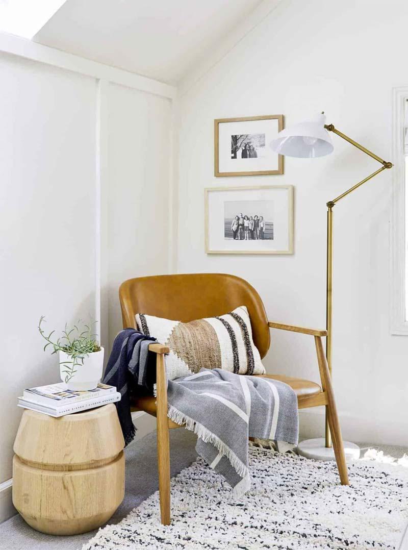 deken over stoel leeshoek