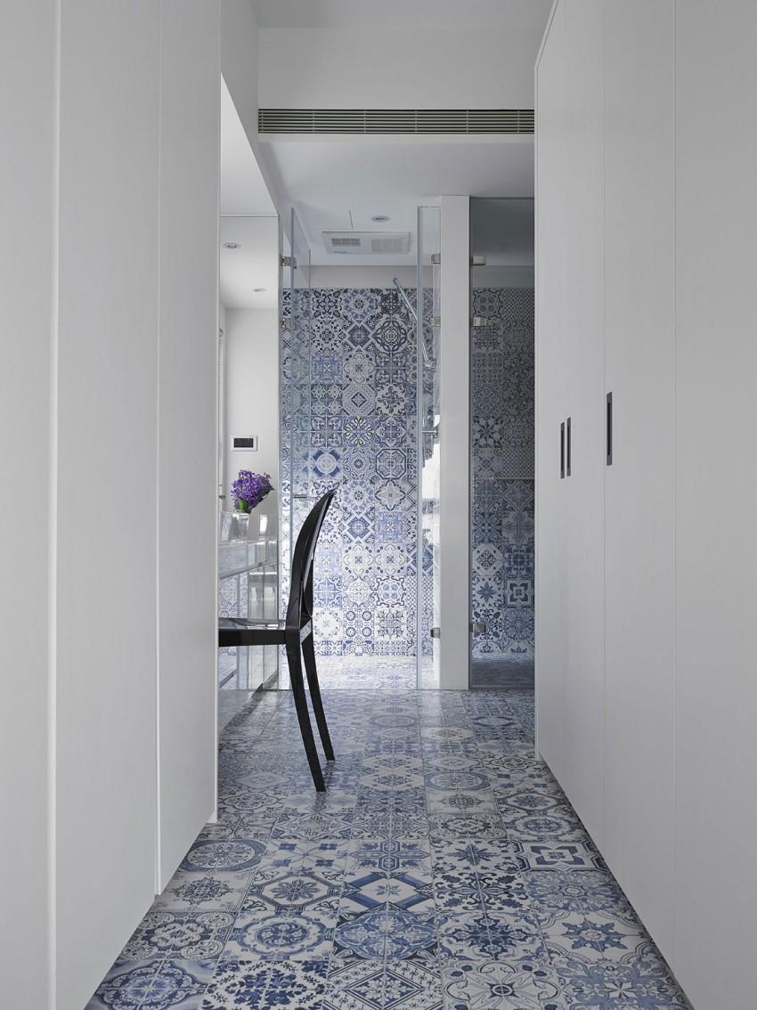 Delfst blauwe tegels in de badkamer homease - Tegel patroon badkamer ...