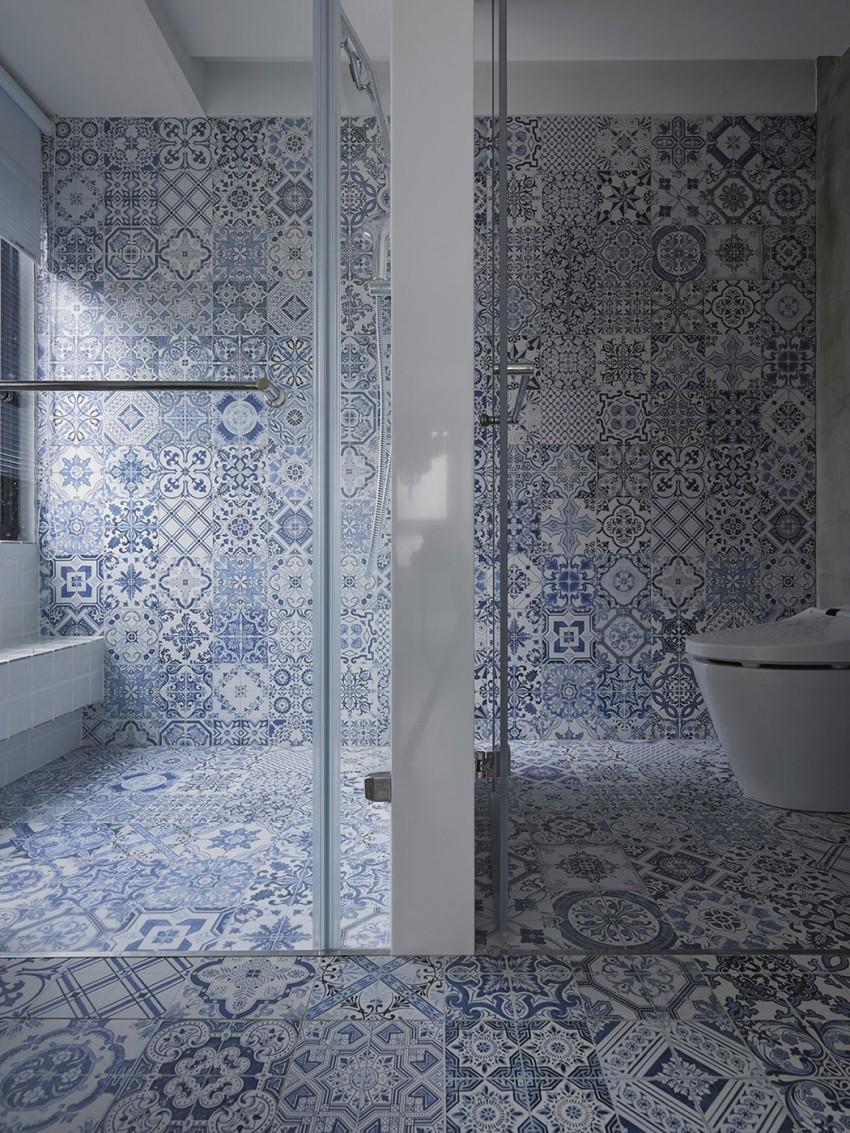 delfst blauwe tegels in de badkamer | homease, Badkamer