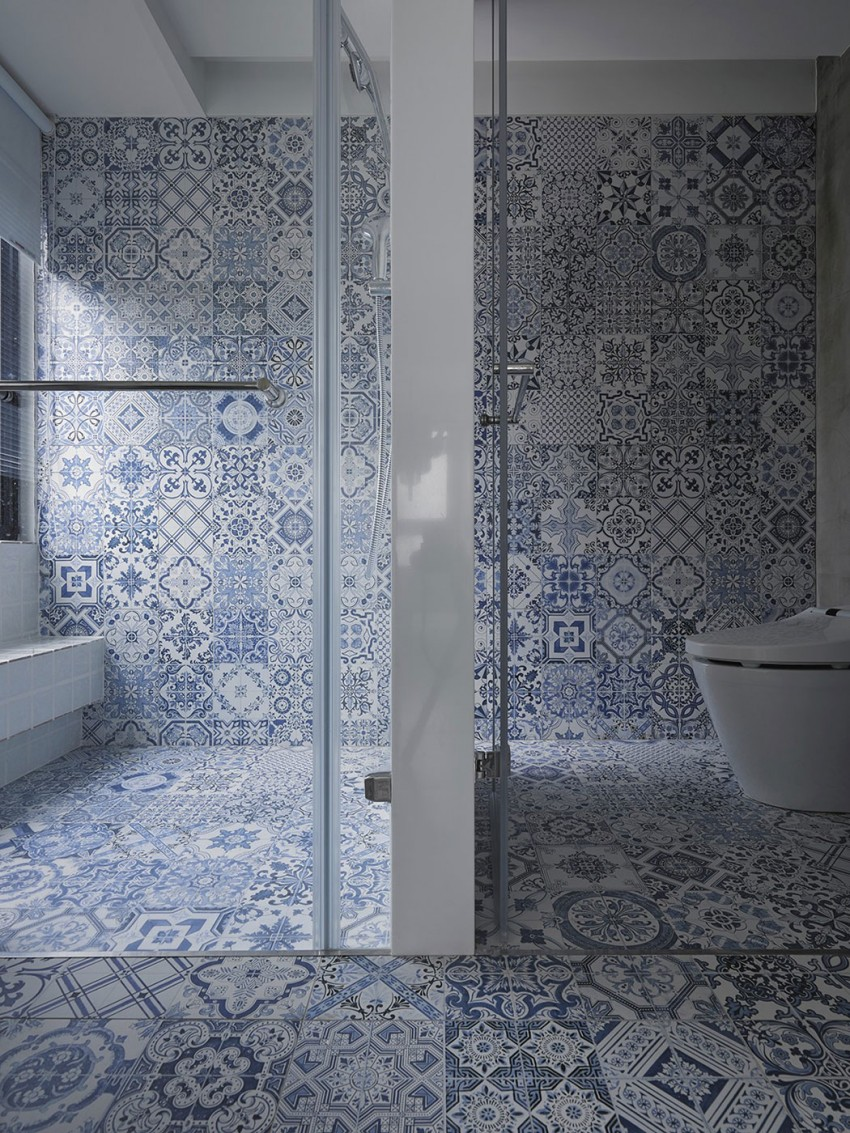 Delfst blauwe tegels in de badkamer homease - Badkamer blauw ...