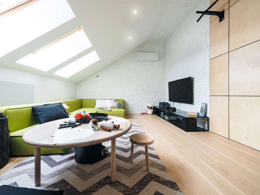 Deze moderne kindvriendelijke woonkamer moet je zien!