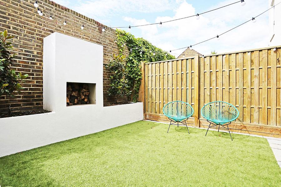 Deze tuin ziet er geweldig uit na de uitbouw voor de woonkeuken