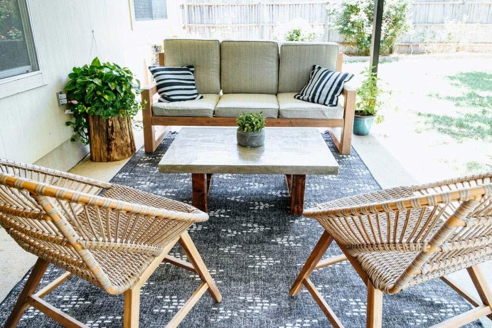diy betonnen salontafel tuin