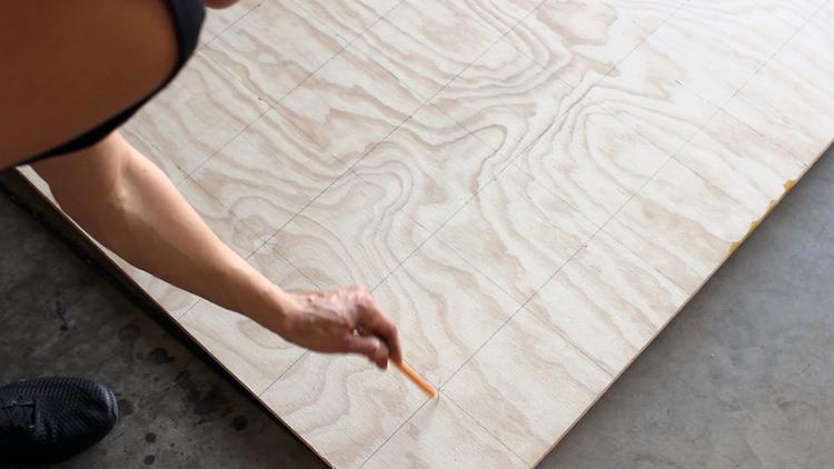 DIY Gaatjesbord muur maken