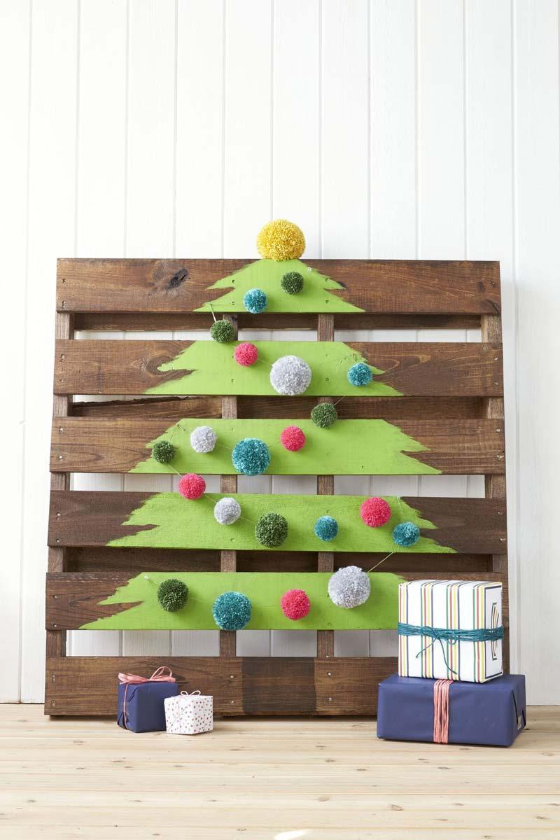 diy kerstboom houten pallet