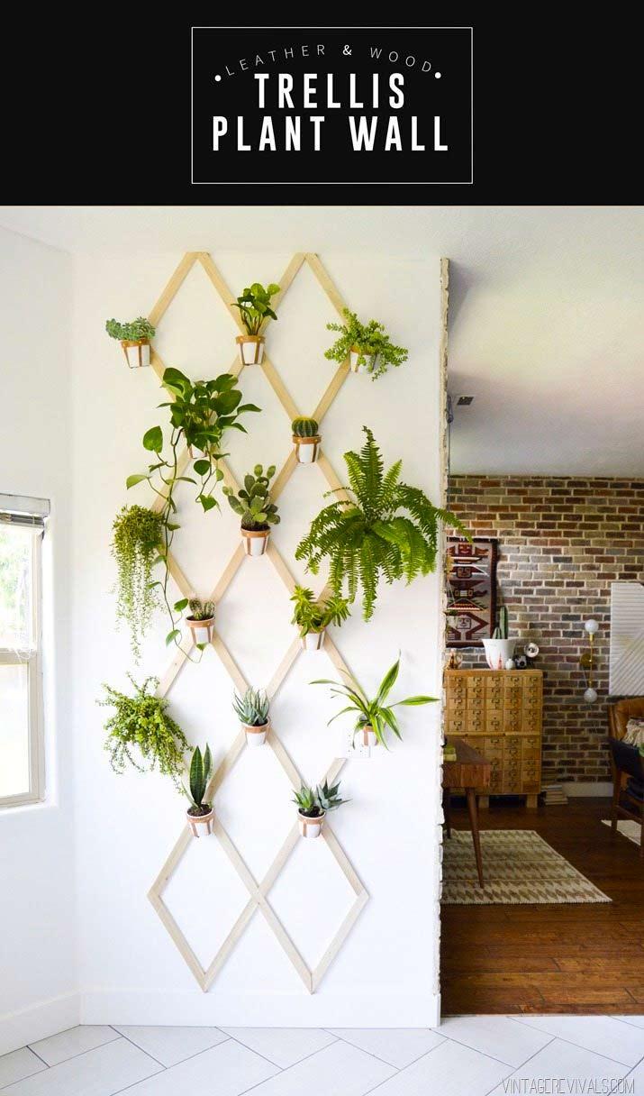 DIY trellis plantenwand