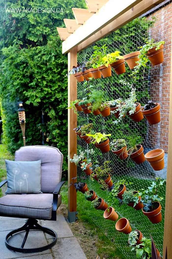 DIY verticale tuin met gaas