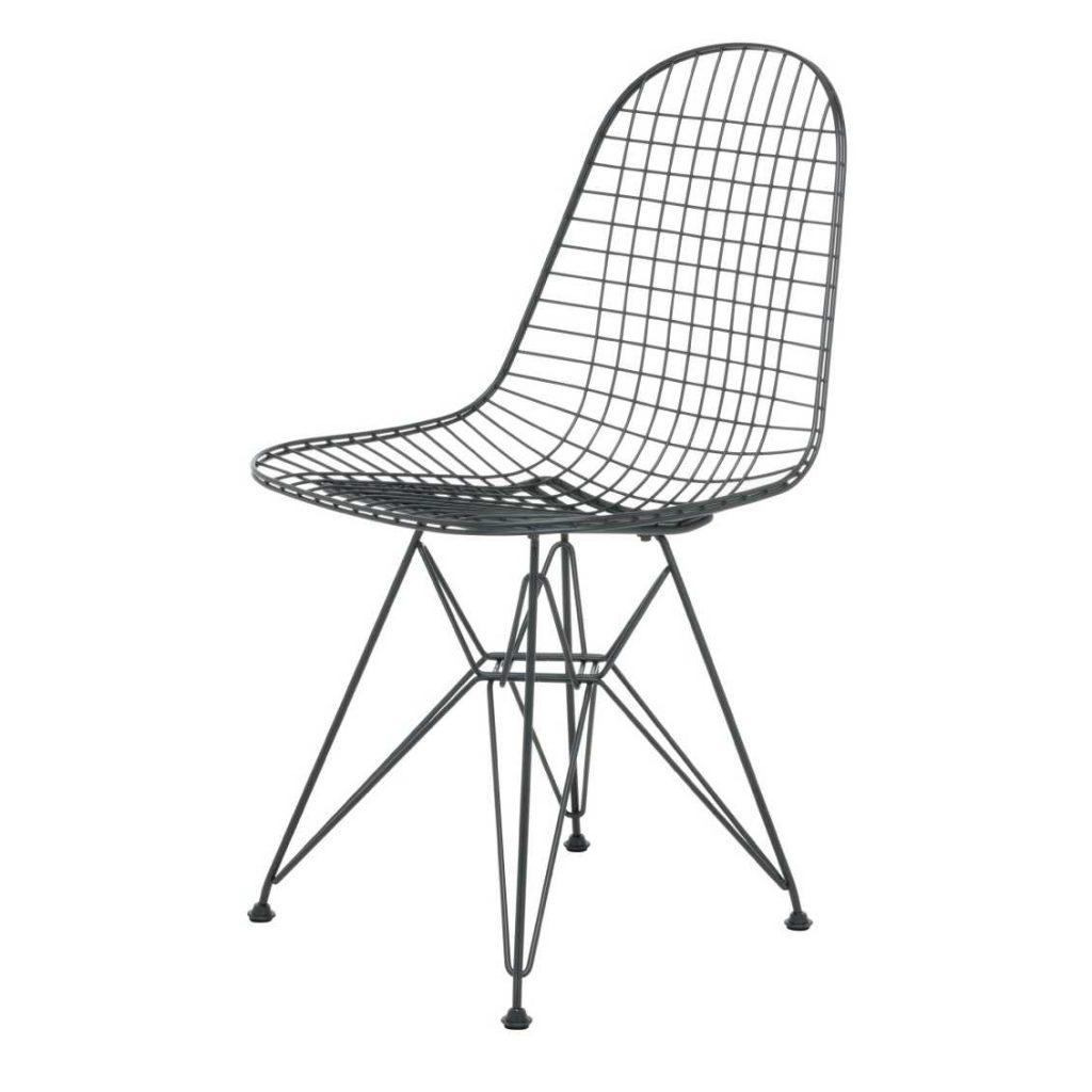 Zwarte Vitra DKR Wire stoel