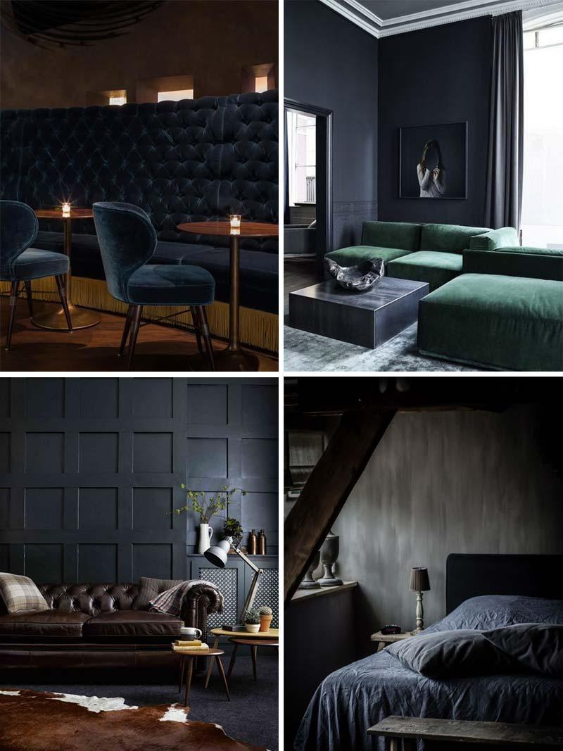donkerblauw combineren interieur moody
