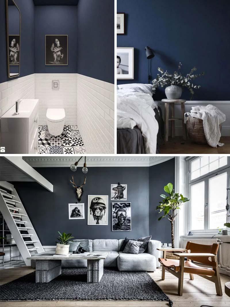 donkerblauw combineren lichte kleuren