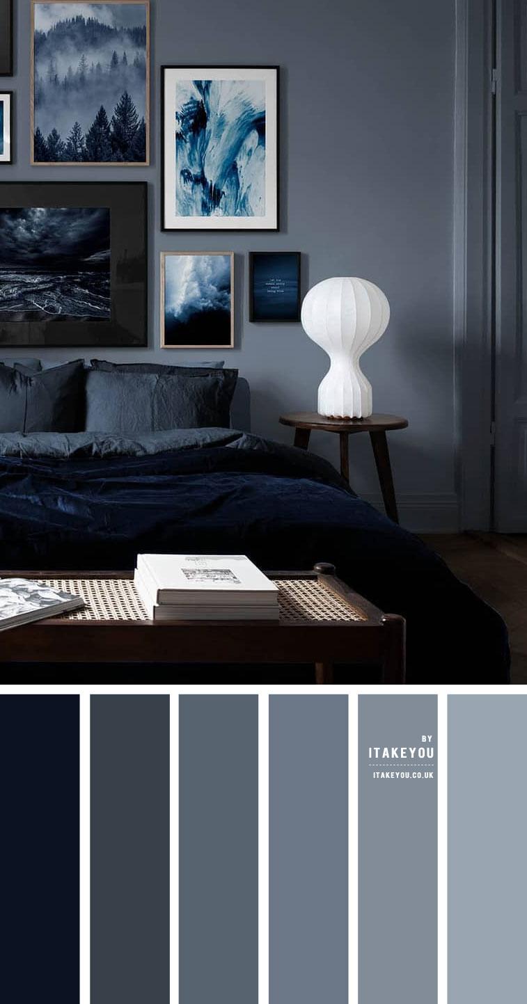 donkerblauw combineren tinten blauw