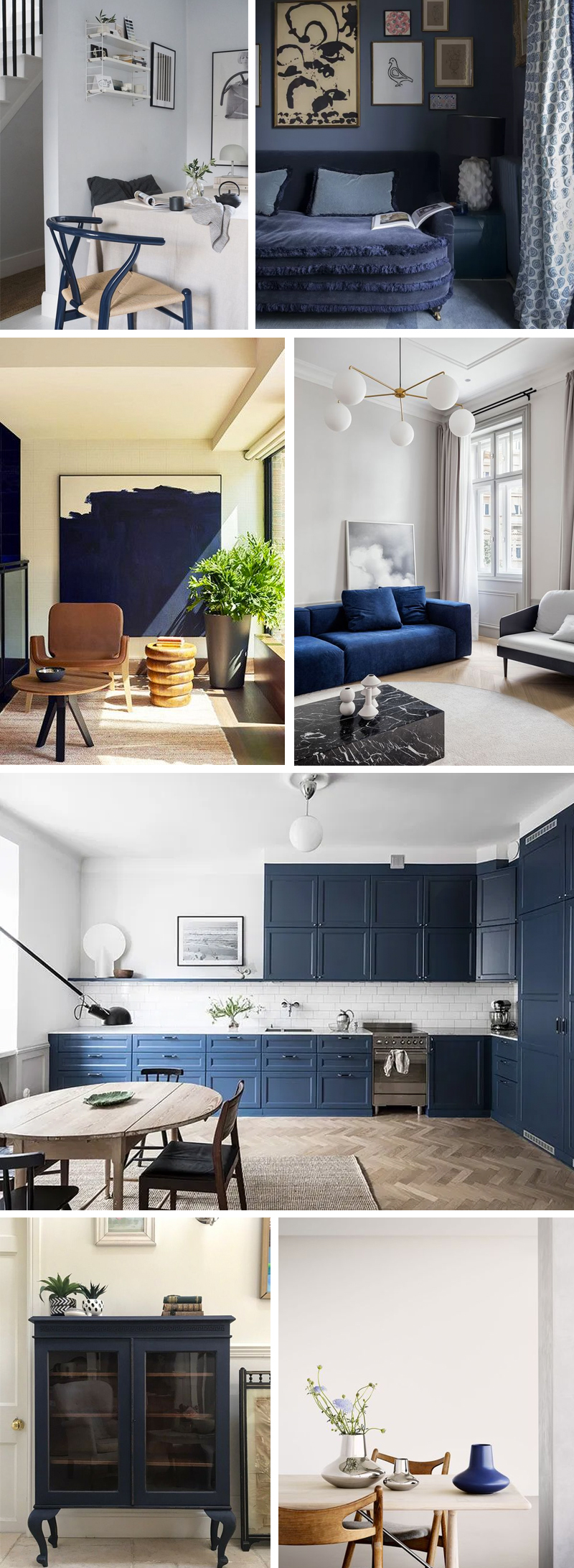donkerblauw interieur styling