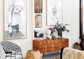 eclectisch-interieur-vloerkleed