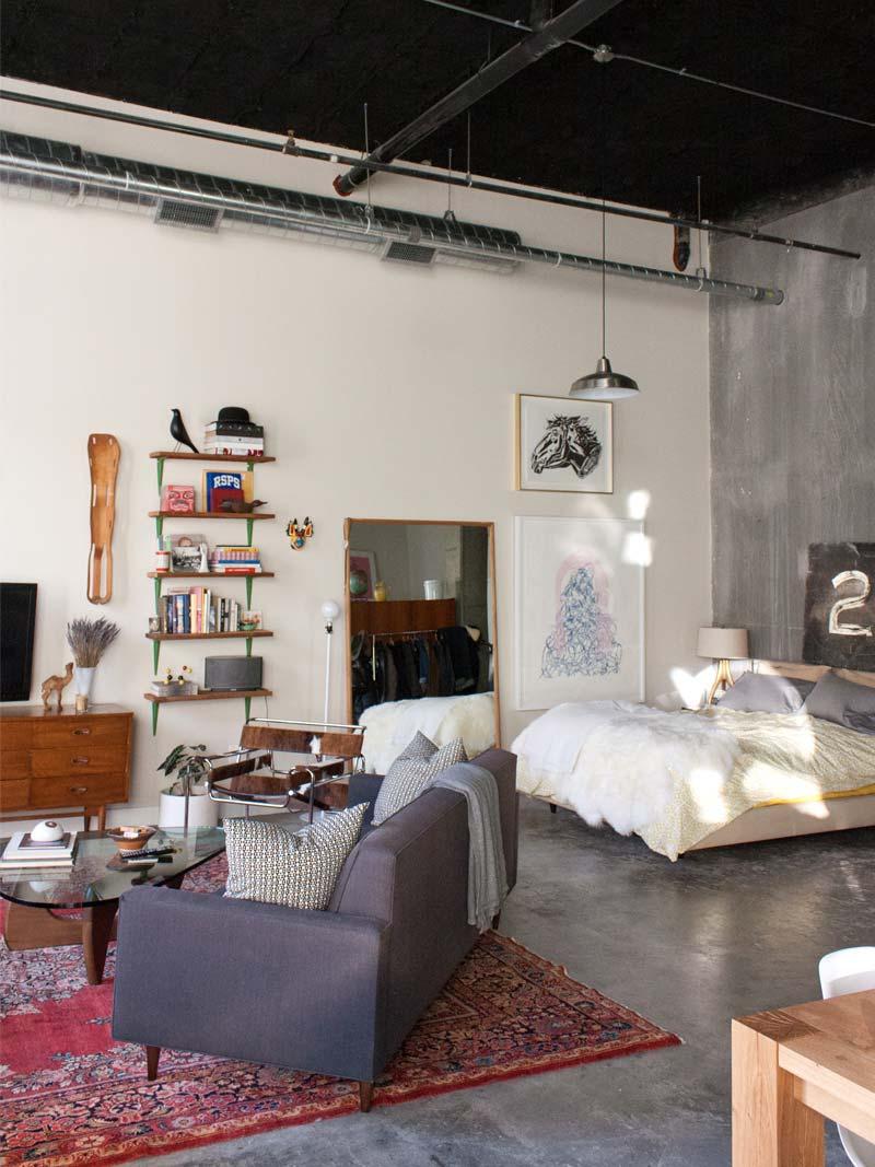 Eclectisch loft appartement