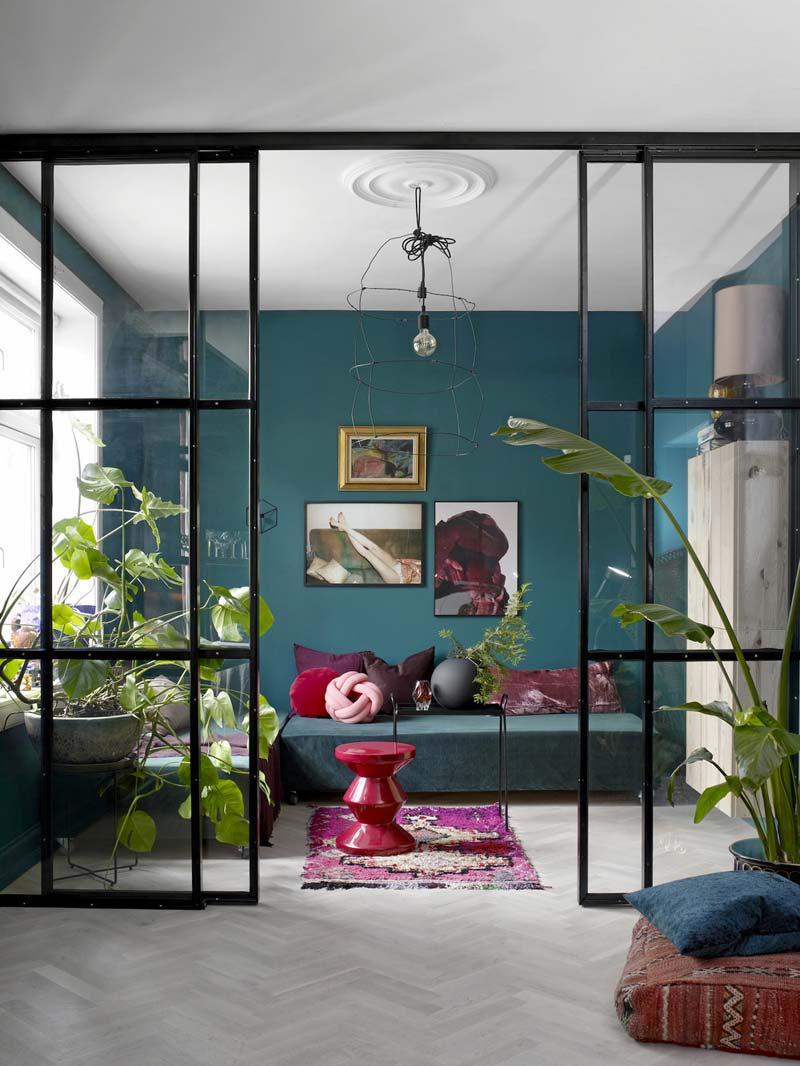eclectisch wonen klein appartement