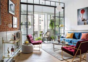eclectische woonkamer kleuren