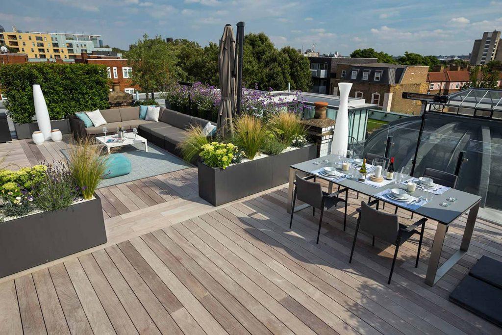 Eigentijds, luxe en onderhoudsvriendelijk dakterras