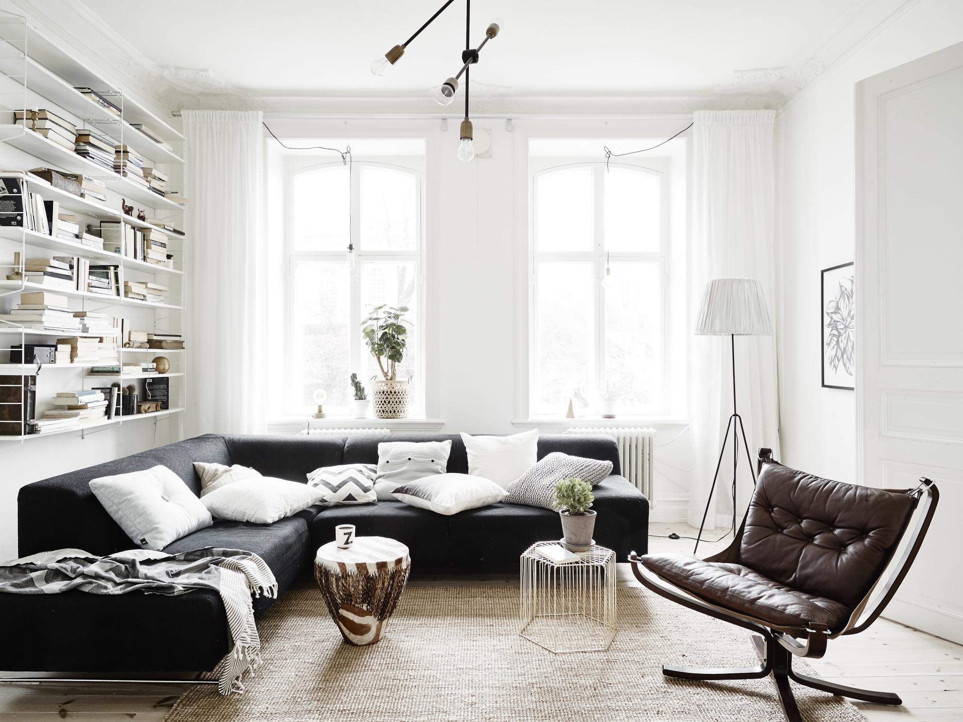 Eigentijds scandinavisch appartement homease - Eigentijdse stijl slaapkamer ...