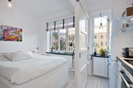 Ensuite schuifdeuren tussen slaapkamer en keuken