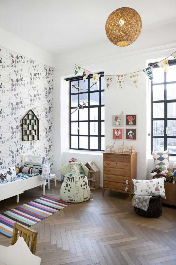 ferm living behang voor de kinderkamer homease. Black Bedroom Furniture Sets. Home Design Ideas