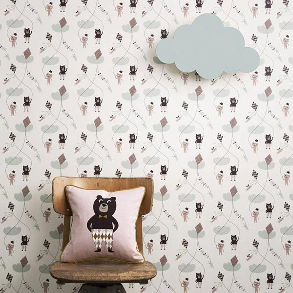 babykamer behang behang behang patroon kinderkamer kinderkamer behang ...