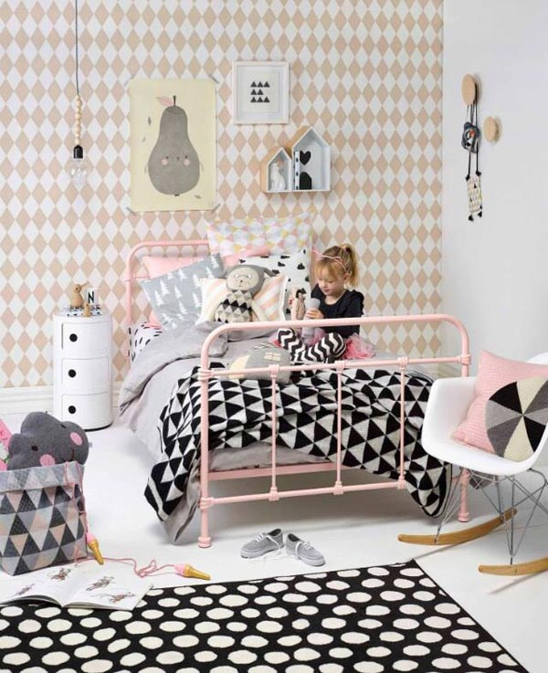 Kinderkamer Kinderkamer Behang : Babykamer behang patroon kinderkamer