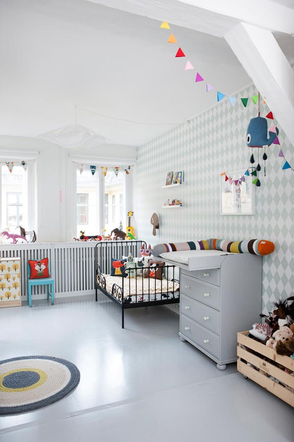 Ferm Living behang voor de kinderkamer HOMEASE
