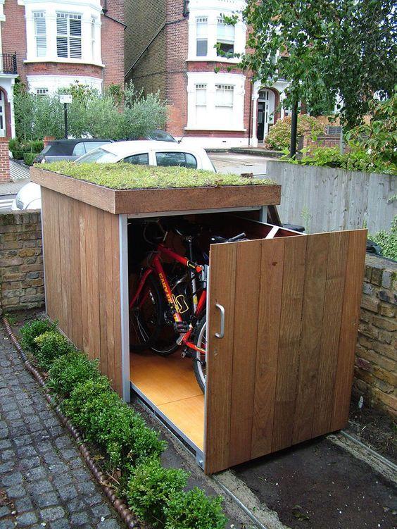 fietsenstalling ideeën voortuin