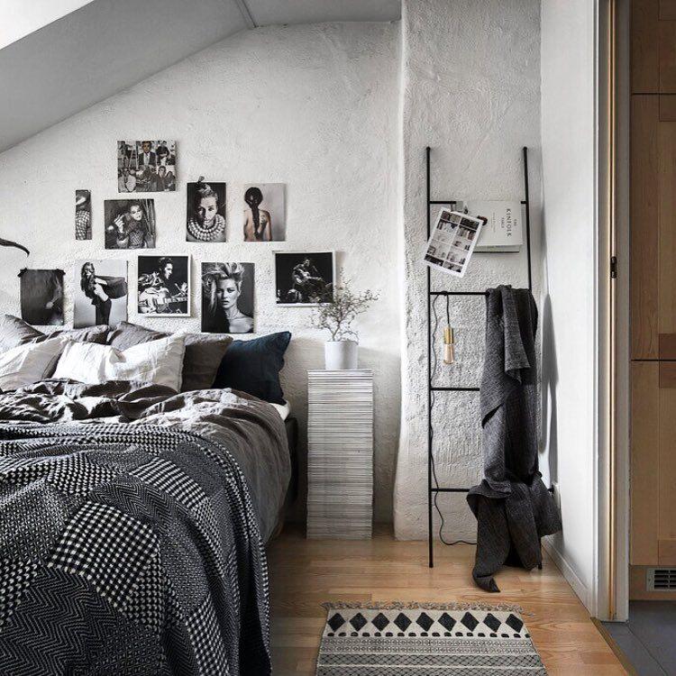 foto collage slaapkamer muur