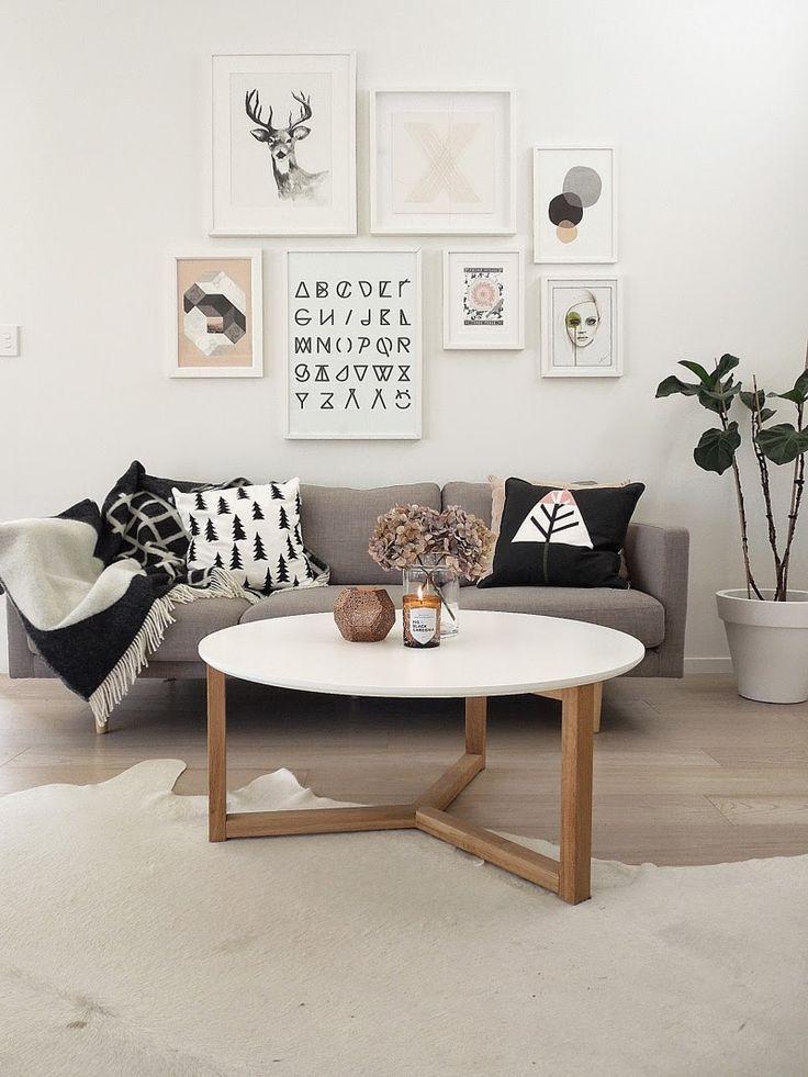 Fotolijstjes aan de muur homease - Deco woonkamer aan de muur wit ...