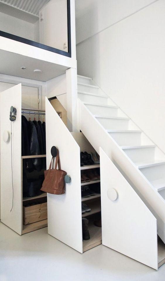 Garderobekast trapkast inspiratie