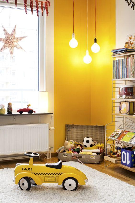 gele-muur-kinderkamer