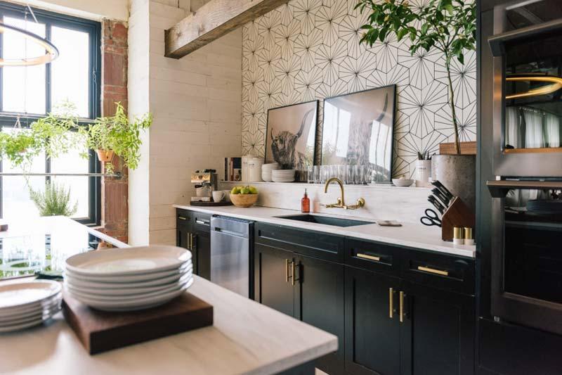 geometrische patroontegels keuken achterwand