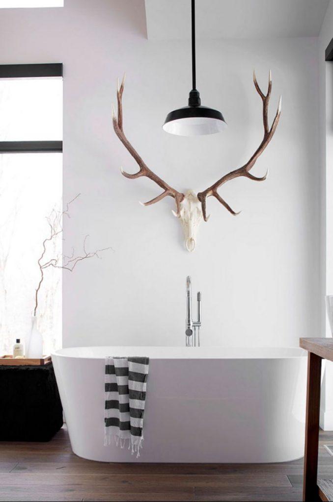 gewei-muur-badkamer