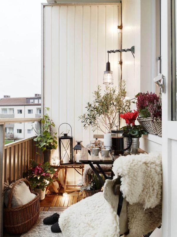 Gezellig klein balkon