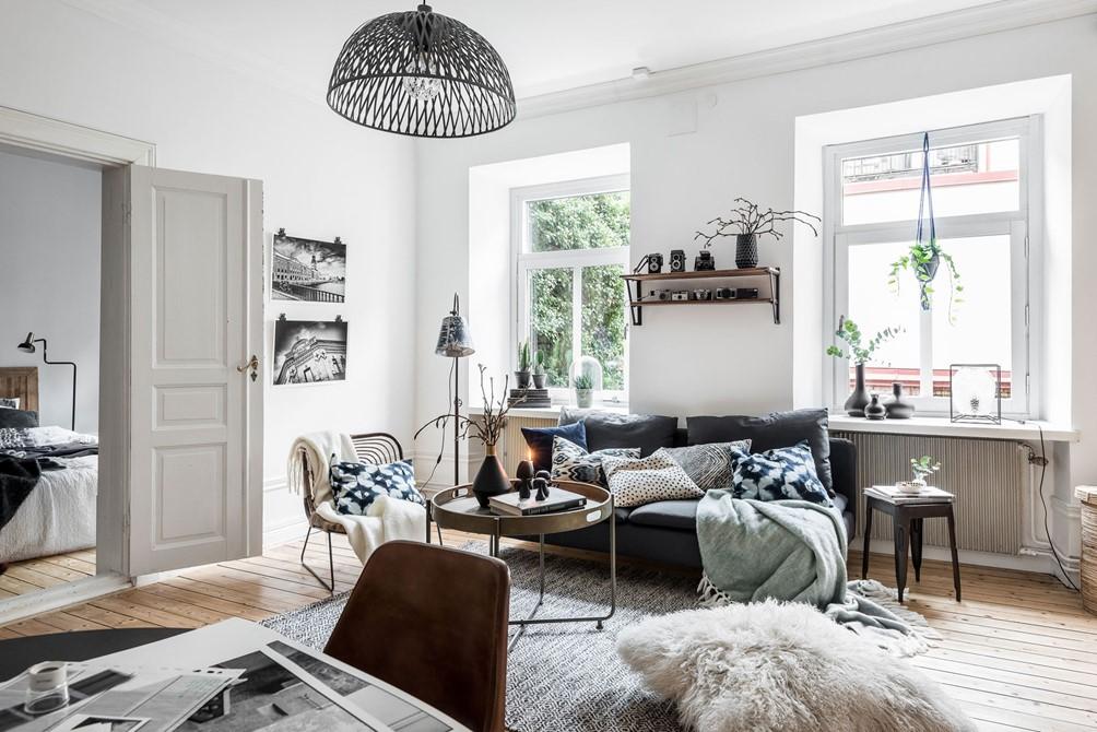 gezellige herfst woonkamer met eethoek homease