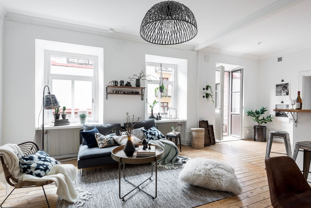 Gezellige herfst woonkamer met eethoek | HOMEASE