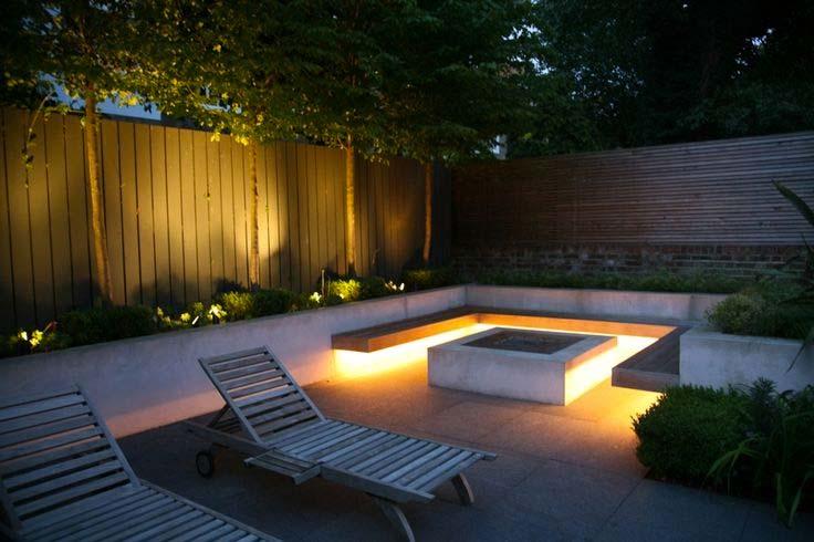 gezellige tuin inrichten led verlichting