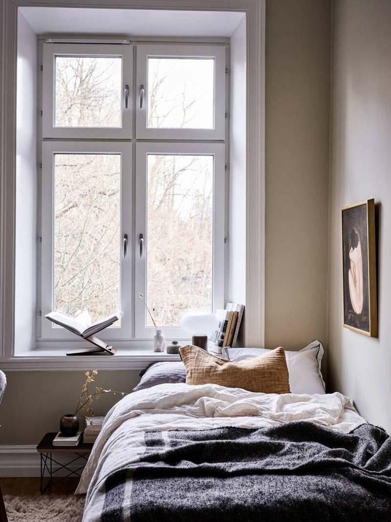 glasvezelbehang slaapkamer