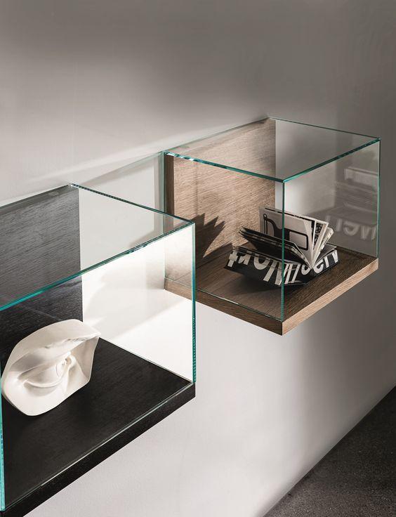 Glazen wand displays