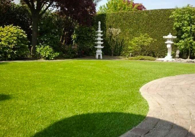 goedkope tuin makeover ideeen grastapijt