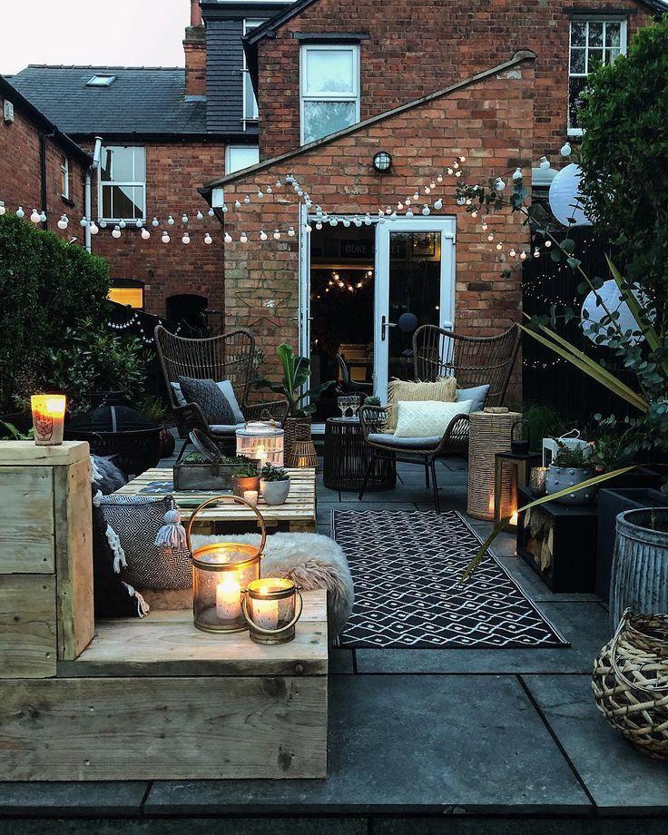 goedkope tuin makeover ideeen kaarsen