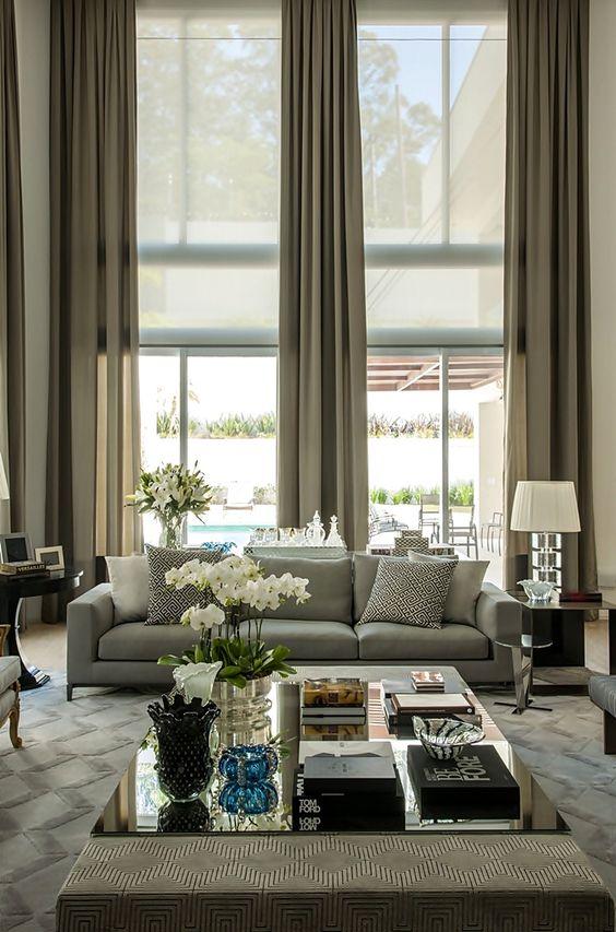 Gordijnen voor hoge ramen