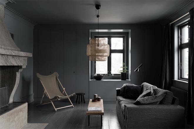 grijze moderne woonkamer