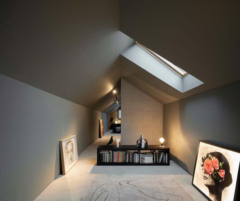 grijze muren plafond