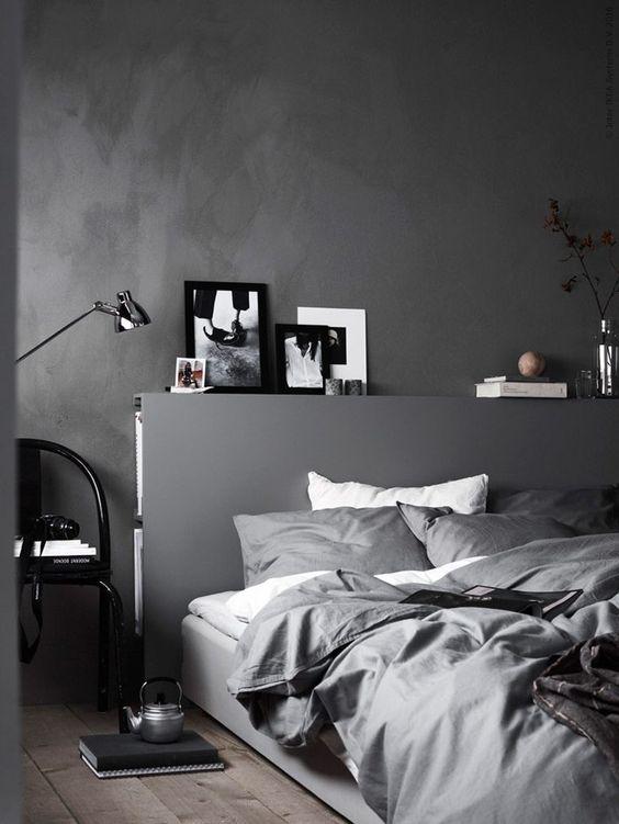 grijze-muur-slaapkamer