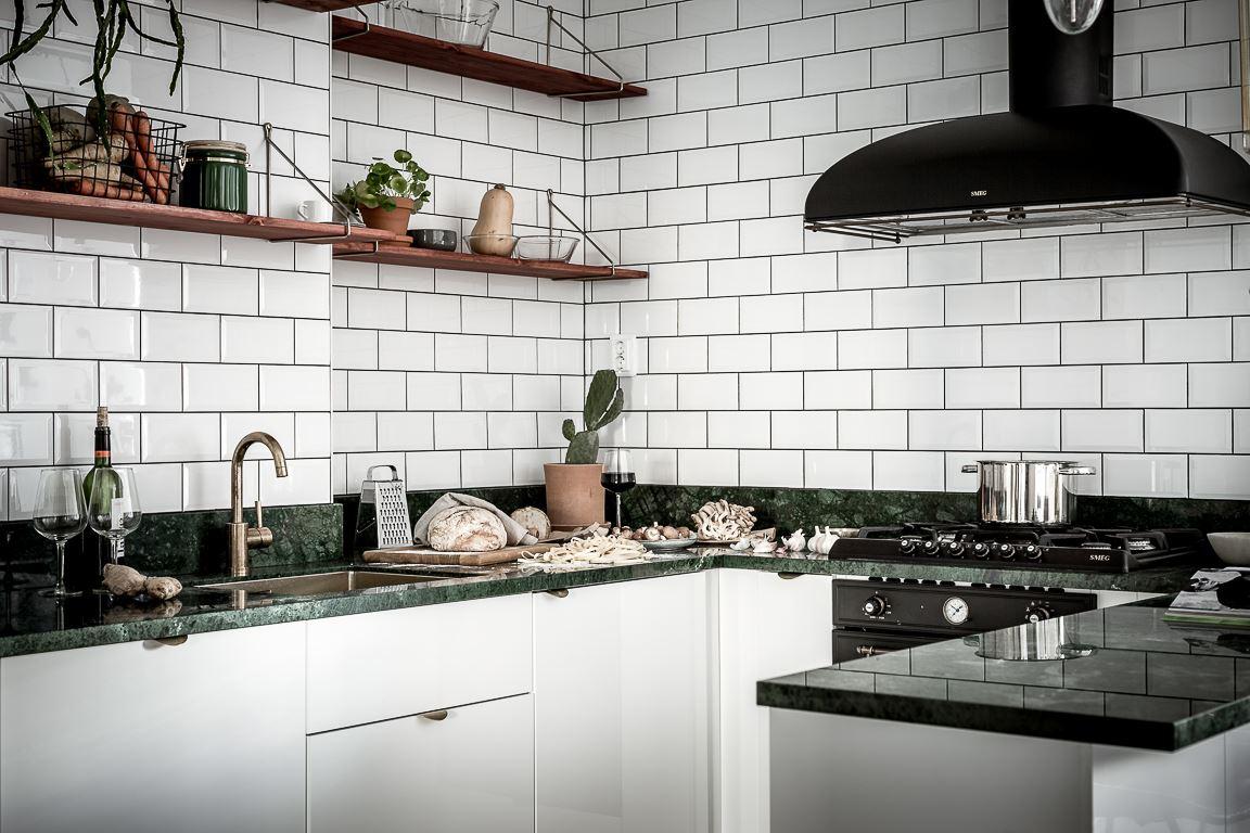 Keuken Marmer Zwart : Groen marmer homease