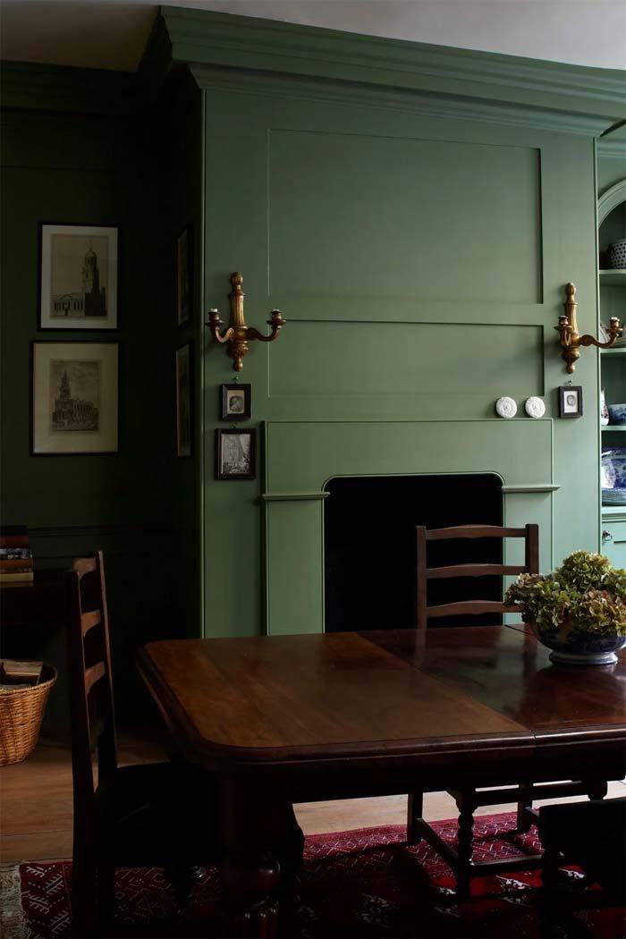Groene muur - Farrow & Ball - Calke Green