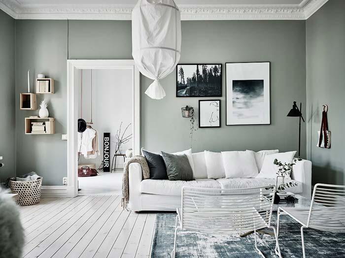 Groene muur - Flexa - Iets Salie - Mengkleuren Collectie